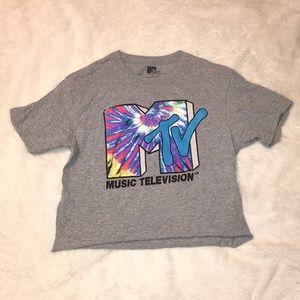 tie dye MTV graphic tee